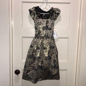 Bonnie Jean metallic girls party dress, size 6x
